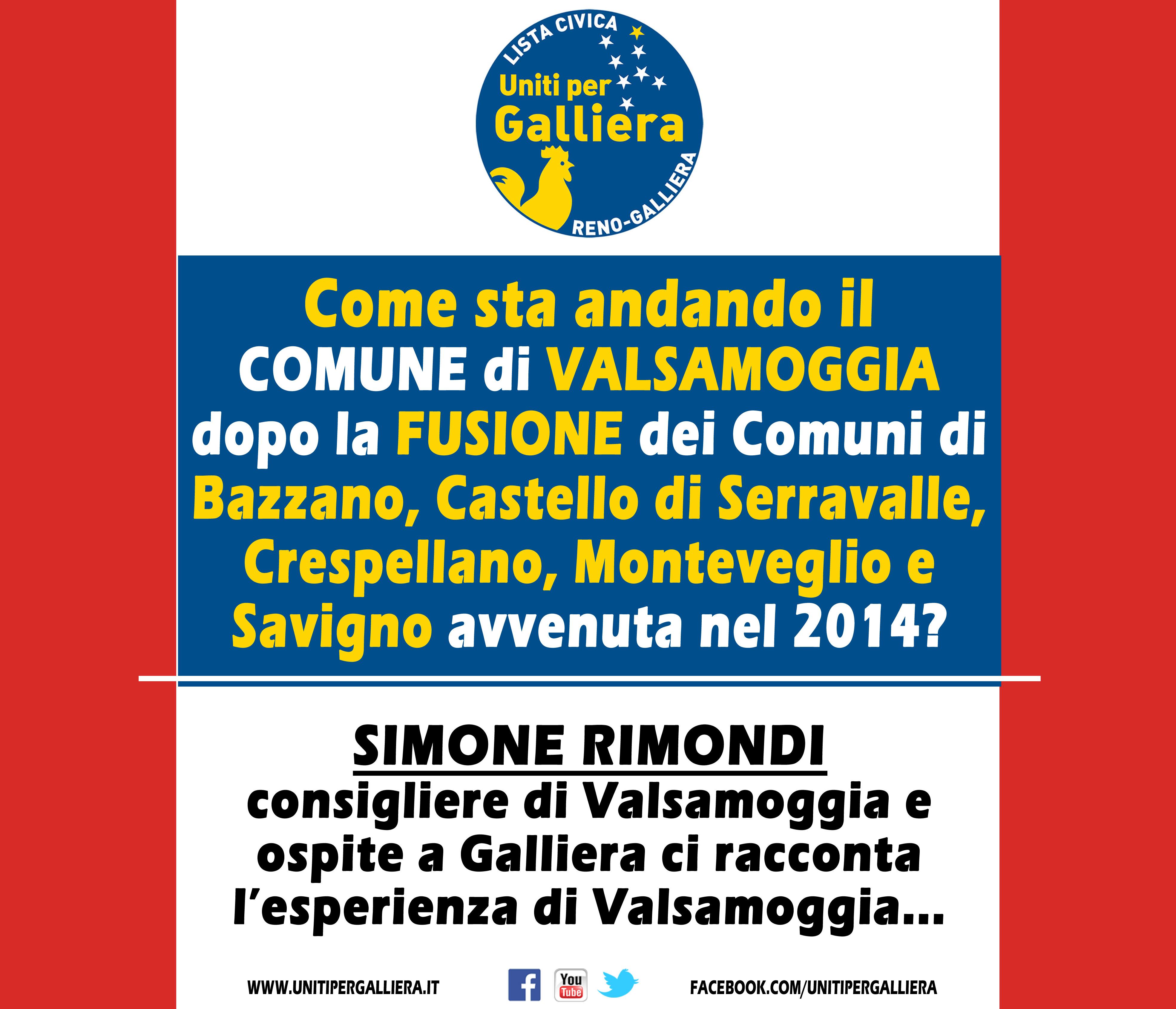 Galliera faccia attenzione alla fusione in Valsamoggia